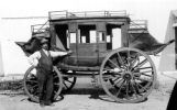 The old Greeley Stagecoach with Johnnie Gruber an early day pioneer