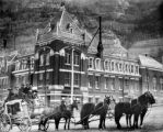 Oldtime stage in front of Beaumont Hotel Ouray, Colo.