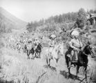 Marking of U. P. Trail Chief Buckskin Charley in lead