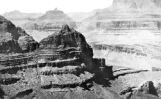 North-west from trail across the Canyon- Nearest pyramid- three miles; distant pyramid, nine miles...