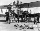 Imperial Airways - first U.K. India airmail service refuelling [sic] on desert strip enroute