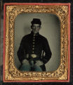 Studio portrait of a soldier