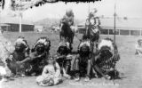 Indian Chiefs in war paint at Rosebud Ag