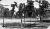 Tennis courts at Denver's City Park