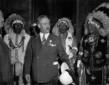 Rotary convention, Carr & Indians Ogallala Sioux from Pine Ridge, S. D., Chief Charlie...