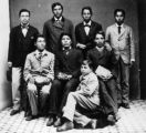 Group of Indian boys, from Dakota territory, taken after about fifteen month's residence at...