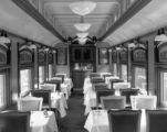 "Interior views of EX-WP 72'6"" dining car ready for D&RGW service"