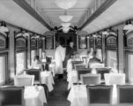 "Interior views of EX WP 72'6"" dining car ready for D&RGW service"