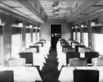 Diners - interior view of one of four all-steel, 36 seat dining cars built by American Car &...