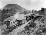 D&RG engines on La Veta Pass, No. 99 & 46
