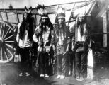 Four Indian braves on dress parade after the trouble of 1891