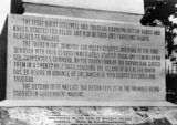 Inscription on one side of Beecher Island Monument