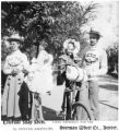 Family with bicycles