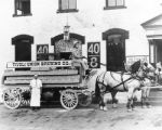 Tivoli Brewery beer wagon