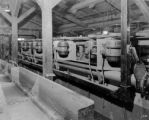 Climax, Colo., tex-rope drivers on rear of flotation machines no. 2 mill