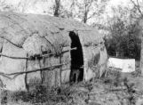 Consolidated Chippewa Agency, Minnesota, a bark house