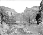 Shoshone dam construction