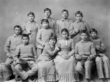 Chiricahua Apaches four months after arriving at Carlisle