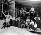 Allenspark citizens at Clara Belle mine while it was in operation