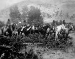 Crow women on horseback