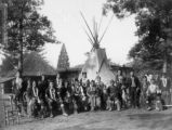 Group portrait of Omaha Indians