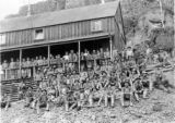 Miners at the Smuggler boarding house