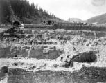 Starting forms for concrete foundations - Gold Prince Mill - Animas Forks