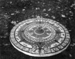 Design of Aztec calendar stone