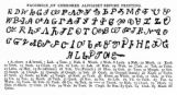 FacsimiIe of Cherokee alphabet before printing