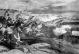 The Sioux war General Crook's battle on the Rosebud River- The Sioux charging Colonel Royall's...