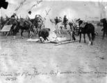 Colonel Wm F. Cody (Buffalo Bill) rehearses Summit Springs Battle