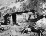 An old prospector & his cabin