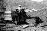 Mucker on mine tramway Magma Copper Company, Superior, Arizona