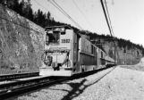 ASEA locomotives, built in Sweden, power ore trains between the Henderson Mine and Mill