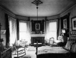 Bedroom of Mrs. F.J. Bancroft 1890's in Bancroft residence 1755 Grant