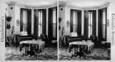 Interior view of dining room Mrs. Byers house on Sherman Ave. [sic]