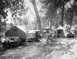 Campers at the Overland Park motor camp