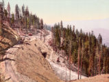 Loop and tunnels, Siskiyou Mountains, Calif.