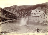 Bathing in the pool at Glenwood Springs
