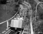 Roller coaster riders at Elitch's