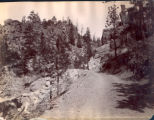 Pikes Peak carriage road near the toll gate