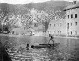 Swimmers in Natatorium at Glenwood Springs