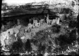 Interior and exterior of east end of Cliff Palace, Mesa Verde