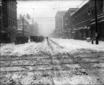 Automobiles abandoned after big snow in spring of 1920