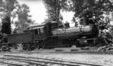 Nevada County narrow gauge locomotive, engine number 7, engine type 4-4-0