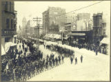 Colorado troops going up Market Street