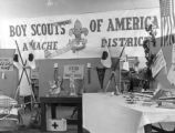 Exhibits of work done by the various boy scout troops at Granada.