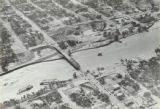 Airplane View, Pueblo in vicinity of east 4th St., D. & R.G. tracks across Fountain Creek