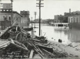 Flood scene, First Street, looking west, Pueblo