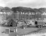 Encampment at King Victor Emmanuel's hunting grounds near Pisa, Italy